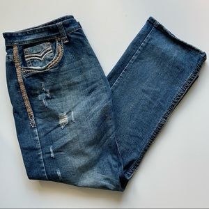 GS115 Premium Distressed Thick Stitch Jeans 40x32
